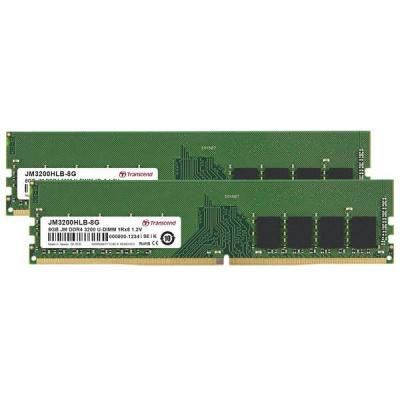 DIMM DDR4 16GB KIT (8GB*2) 3200Mhz TRANSCEND U-DIMM 1Rx8 1Gx8 CL22 1.2V