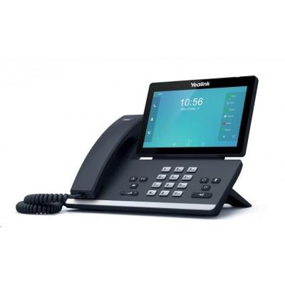 """Yealink SIP-T56A IP telefon, 7"""" 1024x600 LCD,27 prog tl.,2x10/100/1000,Wi-Fi,Bluetooth, PoE,16xSIP, 1x USB, bez adaptéru"""