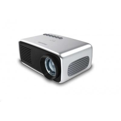 Philips LED mini projektor NeoPix START+ NPX245, 650 LED Lumenů, repro, baterie