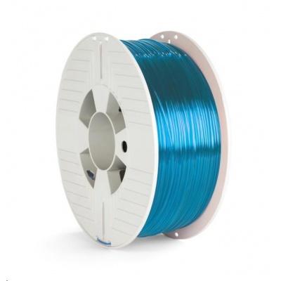 VERBATIM 3D Printer Filament PET-G 1.75mm, 327m, 1kg blue transparent