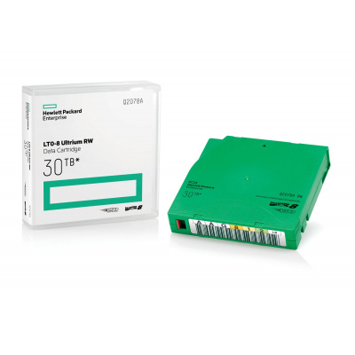 HPE LTO-9 Ultrium 45TB RW Custom Labeled Library Pack 20 Data Cartridges with Cases