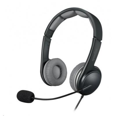 SPEED LINK sluchátka SONID Stereo Headset, USB, černo-šedá