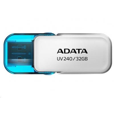 ADATA Flash Disk 32GB UV240, USB 2.0 Dash Drive, bílá