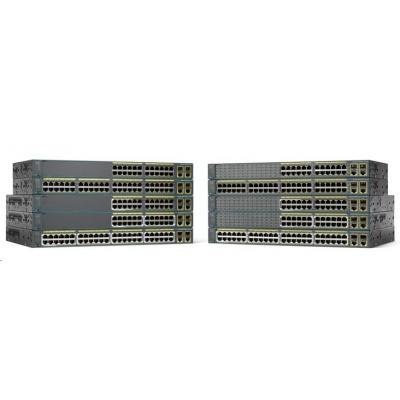 Cisco Catalyst 2960+48PST-S, 48x10/100, 2xGbE, 2xSFP, PoE