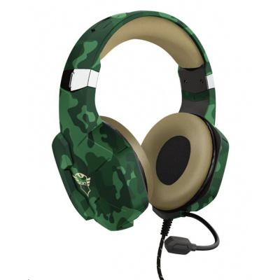 TRUST sluchátka GXT 323C Carus Gaming Headset, jungle camo