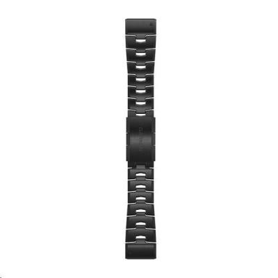 Garmin řemínek pro fenix6X - QuickFit 26, titanový DLC, tmavý