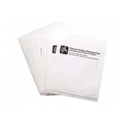 Zebra cleaning cards, 2 cards