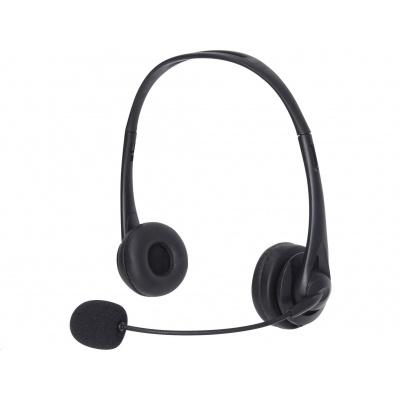 Sandberg náhlavní souprava Office s mikrofonem, USB, stereo, černá