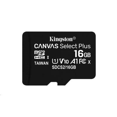 Kingston 16GB micSDHC Canvas Select Plus 100R A1 C10 - 1 ks