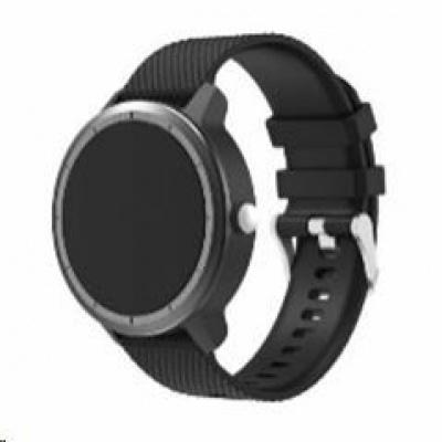 eses silikonový řemínek černý pro Garmin Vivoactive 3