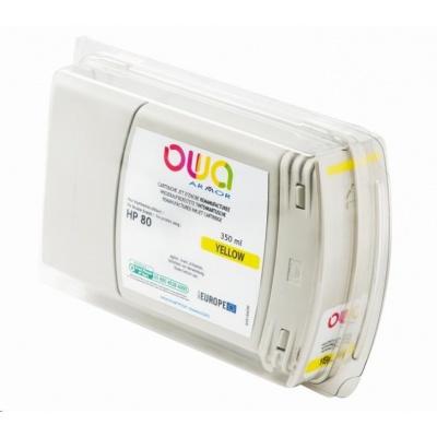 OWA Armor cartridge pro HP DesignJet 1050, 1055, 350ml, C4848A, Yellow
