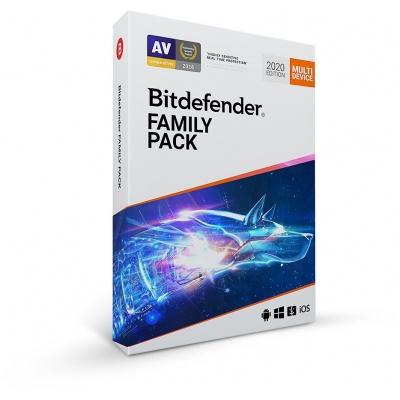 Bitdefender Family pack- 15 zařízení na 2 roky- elektronická licence do emailu