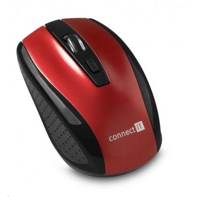 CONNECT IT Bezdrátová optická myš, červená