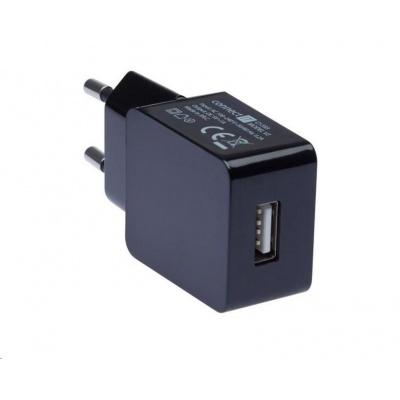 CONNECT IT COLORZ nabíjecí adaptér 1xUSB 1A, černá