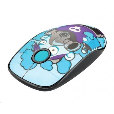 TRUST Myš Sketch Wireless Silent Click Mouse - blue