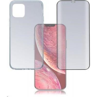 4smarts 360° Protection set (tvrzené sklo Full Frame černá + zadní kryt) pro Apple iPhone 12 Pro Max