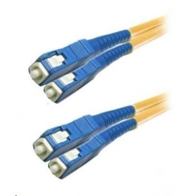 Duplexní patch kabel SM 9/125, OS2, SC-SC, LS0H, 15m