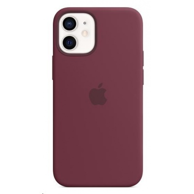 APPLE iPhone 12 mini Silicone Case with MagSafe - Plum