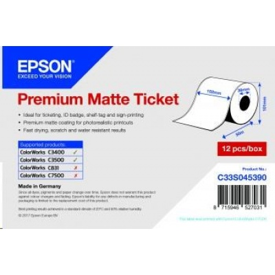 Epson Receipt- / voucher roll (endless), normal paper, 102mm