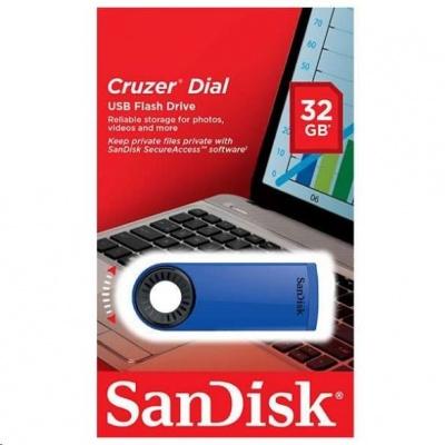 SanDisk Flash Disk 32GB Cruzer Dial, USB 2.0, modrá