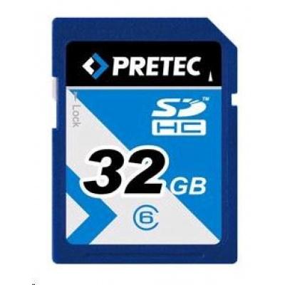 PRETEC Secure Digital SDHC 233x class 10 ( 31MB/s, 11MB/s) - 32GB