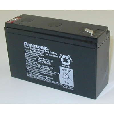 Baterie - Panasonic LC-R0612P1 (6V/12Ah - Faston 250), životnost 6-9let