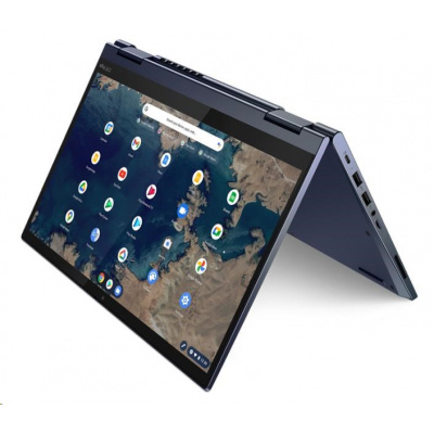 """LENOVO NTB ThinkPad C13 Yoga Gen1 Chromebook - Ryzen 3 3250C,13.3"""" FHD IPS Touch,4GB,128SSD,HDMI,USBC,Chrome,1rcar,modrá"""