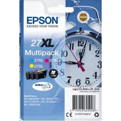 "EPSON ink Multipack 3-colour ""Budík"" 27XL DURABrite Ultra Ink"