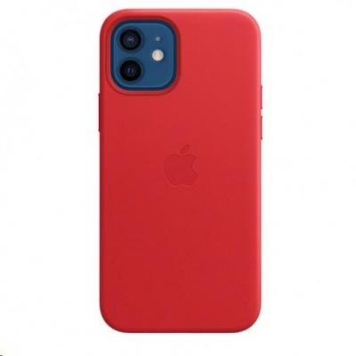 APPLE iPhone 12/12 Pro Leather Case with MagSafe - (PRODUCT) Red