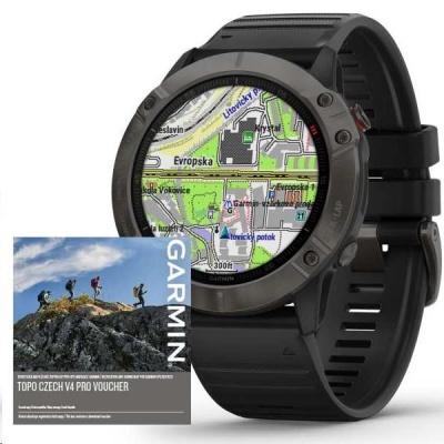 Garmin GPS sportovní hodinky fenix6X PRO Sapphire, GrayDLC/Black Band (MAP/Music)