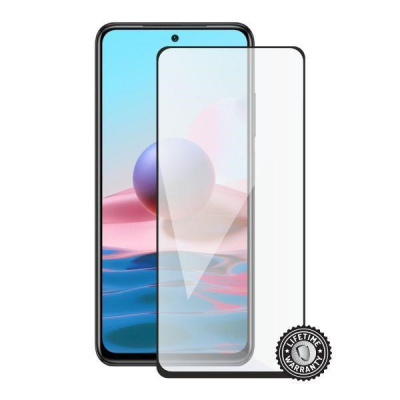Screenshield ochrana displeje Tempered Glass pro XIAOMI Redmi Note 10 4G (full COVER), černá
