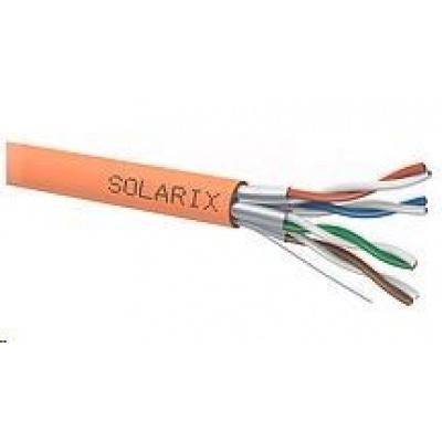 Instalační kabel Solarix STP, Cat6A, drát, LSOH B2ca, cívka 500m SXKD-6A-STP-LSOH-B2ca