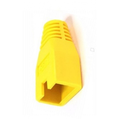 Ochrana pro konektor RJ45, non-snag-proof - žlutá, 100ks