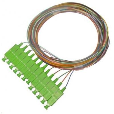 Pigtail SM 9/125, OS2, konektor SC(APC), LS0H, 1m - sada 12 ks