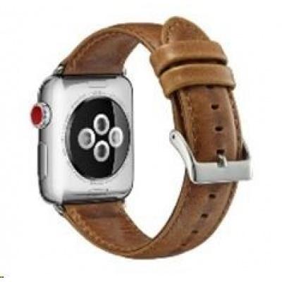 eses kožený řemínek 42/44mm světle hnědý pro Apple Watch