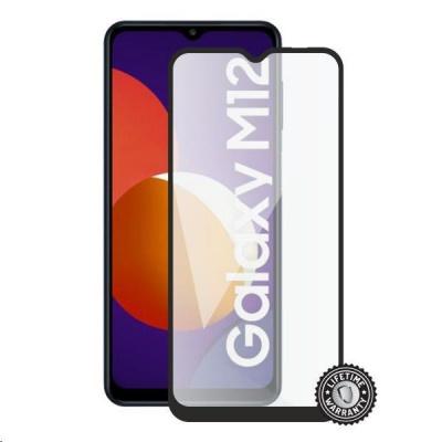 Screenshield ochrana displeje Tempered Glass pro SAMSUNG M127 Galaxy M12 (full COVER), černá