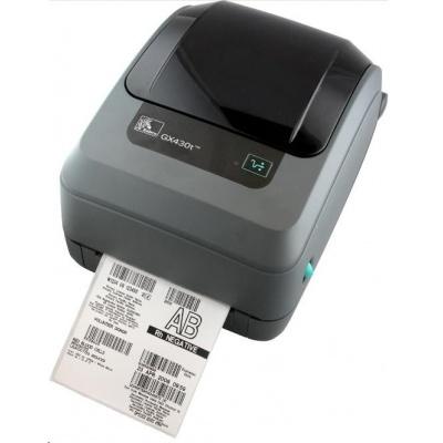 Zebra TT tlačiareň GX430t, 300DPI, EPL2, ZPL II, USB, RS232, LAN