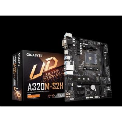 GIGABYTE MB Sc AM4 A320M-S2H (rev. 3.0), AMD A320, 2xDDR4, 1xHDMI, 1xDVI, VGA, mATX