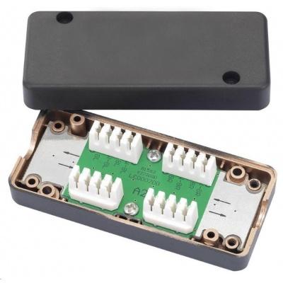 Spojovací box UTP Cat6 narážecí, černá