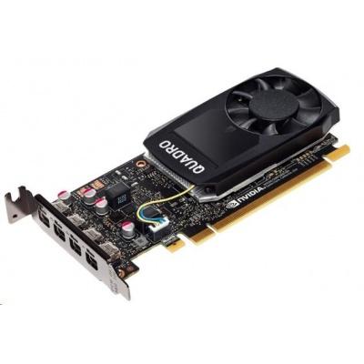 NVIDIA Quadro P1000 4GB GDDR5 2500MHz, 4x miniDisplayPort 1.4, 2x adapter mDP->DP, PCIe 16x, low profile