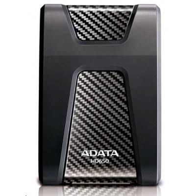 """ADATA Externí HDD 2TB 2,5"""" USB 3.1 DashDrive Durable HD650, černý (gumový, nárazu odolný)"""