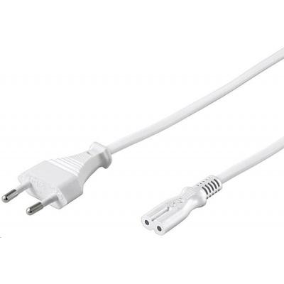 PREMIUMCORD Kabel síťový 230V k magnetofonu 3m bílý