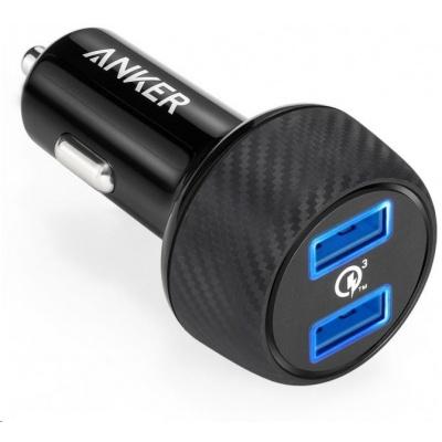 Anker PowerDrive Speed se dvěma Quick Charge 3.0 porty, barva černá