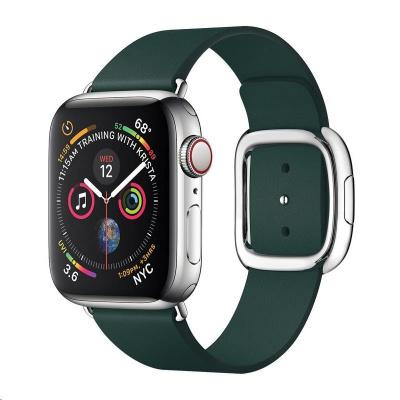 COTEetCI kožený magnetický řemínek Nobleman pro Apple Watch 42 / 44mm zelená