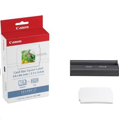 Canon KC18IS papír 86x54mm 18ks do termosublimační tiskárny