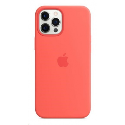 APPLE iPhone 12 Pro Max Silicone Case with MagSafe - Pink Citrus