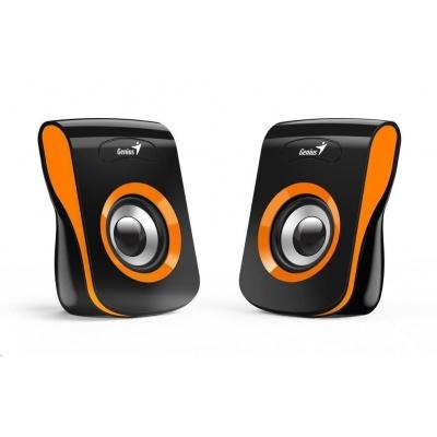 """GENIUS repro SP-Q180 Orange, 2.0, 6W, USB napájení, 3,5"""" jack, černo-oranžové"""