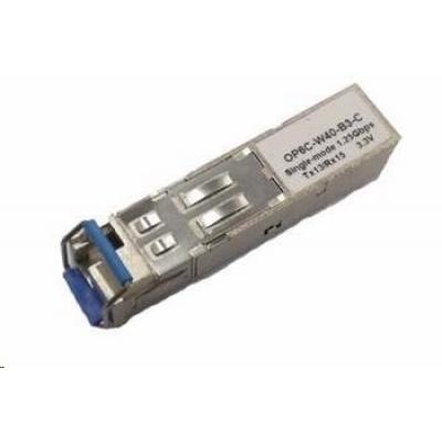SFP WDM transceiver 1,25Gbps, 1000BASE-BX10, SM, 10km, TX1550/RX1310nm, LC simp., 0 až 70°C, 3,3V, HP komp., DMI