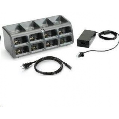 Zebra battery charging station, 8 slots