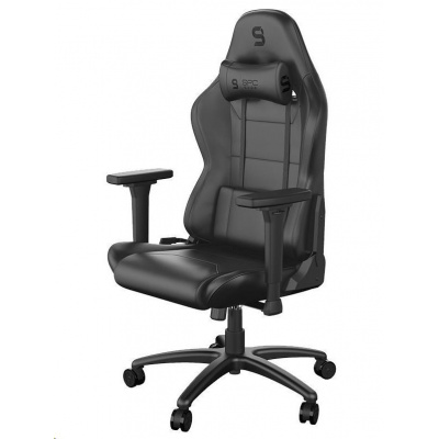 SPC Gear herní židle SR400 / imitace kůže / černá